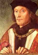 Henry VII (1457 - 1509) was the first Tudor monarch. His claim to the throne was not strong and he became king after defeating Richard III at the Battle of Bosworth Field in 1485.