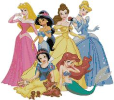 Disney Princesses Cross Stitch Patterns by enCrafts on Etsy, $5.00