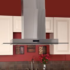 "42"" Domier 2200 Series Stainless Steel Island Range Hood - 470 CFM Fan"