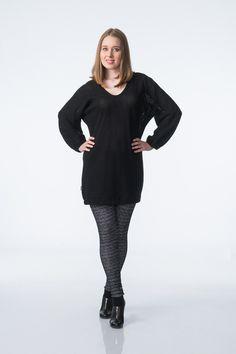 KAINO Knitted Rain Tunic & Rain Leggings Neck Collar, V Neck, Aw17, Colorful Leggings, Knitwear, Rain, High Neck Dress, Tunic, Autumn