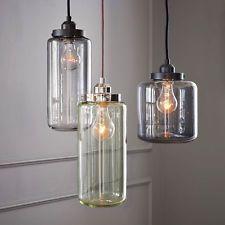 Glass Vintage Industrial Edison Bulb Ceiling Lamp Pendant Light Fixture 3 Lights