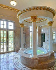 Gorgeous And Glamorous Bathroom Decoration Ideas - Homestya Dream Bathrooms, Dream Rooms, Beautiful Bathrooms, White Bathrooms, Luxury Bathrooms, Master Bathrooms, Chateau Louis, Glamorous Bathroom, Mansion Interior