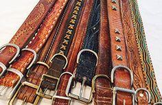 Vintage dog collars from Gitli Goods.