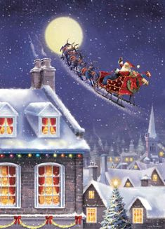 Free Christmas Ecards, Christmas Jokes, Merry Christmas To All, Christmas Scenes, Magical Christmas, Christmas Mood, Christmas Pictures, Vintage Christmas, Christmas Wallpaper