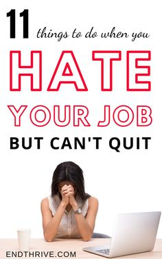 What do you do when you hate your job but can& quit? If that& you, then you probably need some career advice or career tips. Here& some career advice for women and work tips to help you in career development. Job Quotes, Career Quotes, Career Advice, Career Ideas, Career Change, New Career, New Job, Dream Career, Hate Job