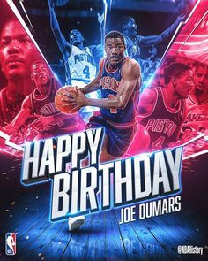 done for Happy Birthday to Champ and Hall of famer Joe Dumars! Print Ads, Poster Prints, Joe Dumars, Happy 55th Birthday, Basketball Background, Sports Advertising, Sports Graphic Design, Event Banner, Love And Basketball
