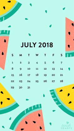 July 2018 calendar wallpaper phone