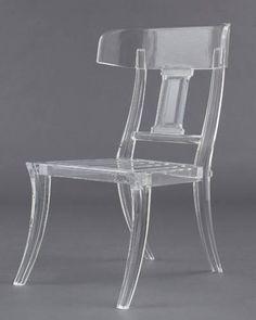Santorini Chair By Dragonette.  Best Lucite Pieces - ELLE DECOR