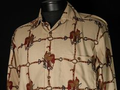 Stanley Blacker Horse Saddle Riding Shirt Mens Medium Button Front Cowboy Pony #Shopping #Style #Fashion http://r.ebay.com/vwD5f8 via @eBay