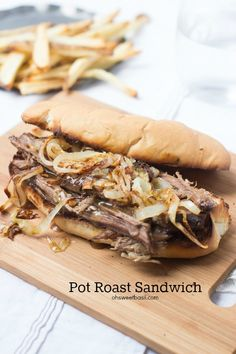 Pot Roast sandwich  that is so good your husband will want to marry you all over again.