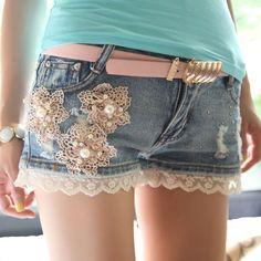 Transforme sua calça jeans em um short customizado « Dona Giraffa