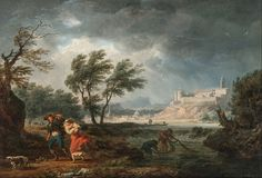 Artwork of the Day Four Times of the Day – Midday Claude Joseph Vernet. Four Times of the Day is a series of four paintings depicting four times of the day: Morning, Midday, Evening and Night by the French landscape painter Claude Joseph Vernet. The second painting, entitled Midday depicts a sudden, unexpected storm.