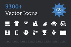 3300+ Vector Icons Bundle - 70% OFF by Creative Stall on Creative Market