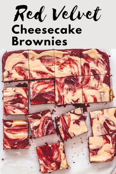Hey brownie lovers, this recipe is for you. These red velvet cheesecake brownies have a rich and fudgy brownie base with a swirl of tangy, creamy, sweet cheesecake. Because my family doesn't eat eggs, I have made these without eggs. Brownie Batter, Brownie Cookies, No Bake Cookies, Red Velvet Cheesecake Brownies, Fudgy Brownies, Brownie Recipes, Cookie Recipes, Spice Things Up, Favorite Cookie Recipe