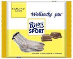 RITTER SPORT Fake Schokolade Wollsocke pur