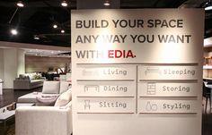EDIA | Brand Identity | Serious Studio Visual Merchandising, Your Space, Brand Identity, Dining, Studio, Environment, Furniture, Home Decor, Food