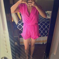 Pink romper Never worn pink romper, super cute! Other