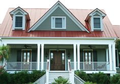 Houses With Red Metal Roof | This is probably one of my favorite houses in the area. It sits on the ...