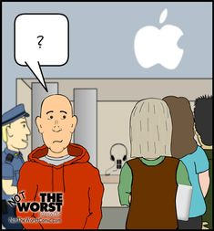 A funny thing happened on the way to the Apple Store [Click for full comic]