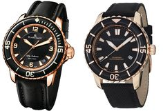Blancpain Fifty Fathoms vs Stuhrling Aquadiver Fifty Fathoms, Expensive Watches, Casio Watch, Water, Accessories, Clock, Water Water, Aqua
