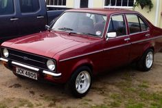mk2 escort 4door.  Currently in the shop for an engine change. Another of my projects.
