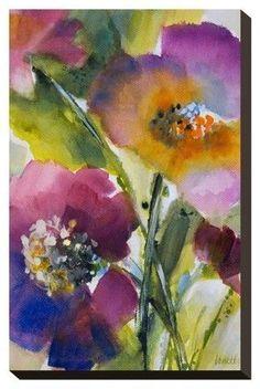 Art.com Violetti Ii By Lanie Loreth Stretched Wall Canvas Print