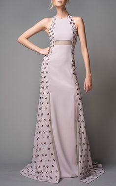 Embroidered Halter Gown by Bibhu Mohapatra for Preorder on Moda Operandi