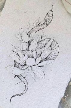 Snake Tattoo, I Tattoo, Tattoo Sketches, Tattoo Drawings, Tattoo Studio, Pet Tiger, Tattoo Feminina, Tattoo Project, Little Tattoos