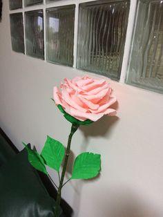 rózsa krepp papírból
