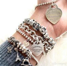 >>>Pandora Jewelry OFF! Tiffany Bracelets, Tiffany Jewelry, Pandora Bracelets, Pandora Jewelry, Silver Bracelets, Silver Jewelry, Silver Earrings, Wrap Bracelets, Gold Jewellery