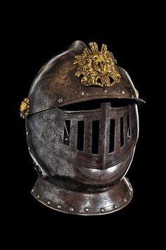 A noble boy's closed helmet, France 17th century
