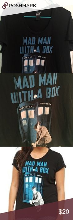 EUC Mad ManWith a Box Dr. Who Graphic Tee Only worn once or twice and carefully laundered. Great condition.   Smoke free and dog-friendly home. torrid Tops Tees - Short Sleeve