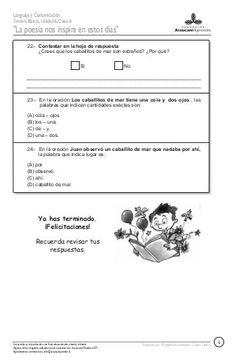 Prueba Leo, Poem, Interactive Science Notebooks, Comprehension Exercises, Reading Comprehension, Reading Comprehension, Second Best, Classroom, School