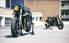 """2 is better than 1. Honda CB750 Cafe Racer """"The Bonesheart Specials"""" by deBolex Engineering #caferacer #motorcycles #motos 