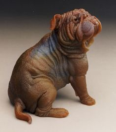 carved mineral - I want this! Reminds me of my Bulldog babies