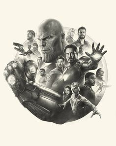 Drawing Marvel Comics Avengers Infinity War Pencil Art working process by yinyuming - Avengers Drawings, Avengers Tattoo, Marvel Tattoos, Drawing Cartoon Characters, Character Drawing, Marvel Characters, Cartoon Drawings, Thanos Avengers, Avengers Art