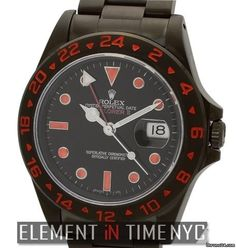 Rolex Explorer II 40mm Stainless Steel With Custom DLC Coating Black Dial Ref. 16570 Price On Request