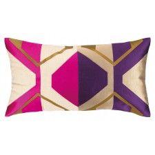 Trina Turk La Playa Embroidered Pillow, Wineberry