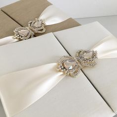 "Stationery & Floral Design's Instagram post: ""Two elegant silk invitations for my own birthday this saturday. One in gold and one in ivory with crown brooch. I can't wait to show you…"" Floral Design, Stationery, Ivory, Brooch, Crown, Invitations, Elegant, Birthday, Instagram Posts"