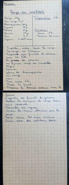 Carpe en matelote - recettes de famille - cahiers de cuisine familiale - Poisson
