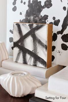 DIY West Elm Inspired Canvas Art - easy to make!