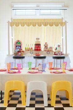 Boy's Superhero Milk Bar Party Dessert Table Decor Ideas