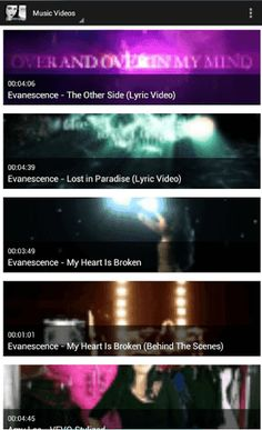 Evanescence Music Videos is free apps to watch Evanescence music video,with this apps you can watching new vodeo music from Evanescence. this apps will update with new video music from Evanescence.so download and play this apps to get fresh and new video update from Evanescence.<br>If you're a true Evanescence fan, or you're just browsing around for the best Evanescence Songs and Videos… this app is definitely a must-have!<br>—————<br>Listen & Watch Evanescence whenever you want on any…