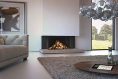 Spartherm DRU Gaskamin Maestro RCH Home contemporary fireplace ideas Living Room Decor Fireplace, Porch Fireplace, Living Room Tv, Fireplace Design, Living Room Modern, Living Room Designs, Fireplace Ideas, Fireplace Modern, Log Home Interiors