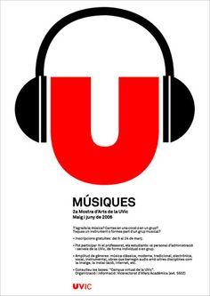 Cartel: Muestra de Música en la Universitat de Vic Nintendo Switch, Boston, Logos, Design, Poster, Logo