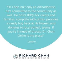 Community involvement and connecting with our clients and their families is a priority for us. Thank you for the recognition Corall! #community #WeLoveOurPatients #RicharChanOrthodontics