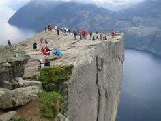 De Preikestole beklommen in Noorwegen