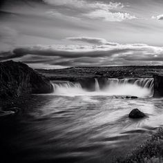 Black and white interpretation of Goðafoss, the Waterfall of the Gods. 23rd of June 2014...my Summer Solstice collection is almost finished, yeah!