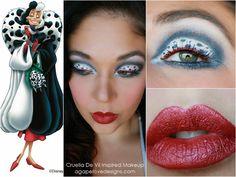 101 Dalmatian's Villain: Cruella De Vil Inspired Makeup #disney #makeup #beauty #eotd #dalmatian #classic #redlips #flitter #blackandwhitemakeup #love #halloween #eyes #lips #villain #101dalmatians