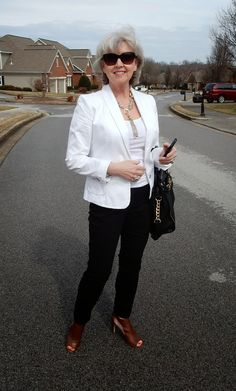 Fifty, not Frumpy: White Jacket